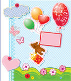 Orso dell'orsacchiotto e contenitore di regalo illustrazione vettoriale
