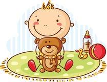 Orso dell'orsacchiotto e del bambino Immagine Stock Libera da Diritti