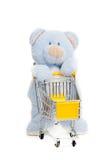Orso dell'orsacchiotto. Isolato sopra bianco. fotografia stock