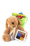 Orso della benna del giocattolo e del giocattolo Fotografie Stock Libere da Diritti