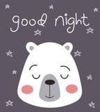 Orso della buona notte Immagini Stock Libere da Diritti