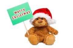 Orso di Buon Natale Fotografia Stock
