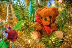 Orso di Natale Fotografia Stock Libera da Diritti