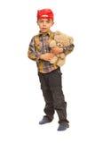 Orso di orsacchiotto della holding del bambino Fotografie Stock