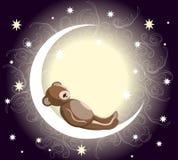 Orso di orsacchiotto di sonno illustrazione vettoriale