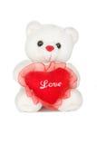 Orso di orsacchiotto di St.Valentine Fotografie Stock