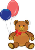 Orso di orsacchiotto divertente, scheda di buon compleanno Fotografie Stock