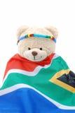 Orso di orsacchiotto sudafricano della bandierina Fotografia Stock Libera da Diritti