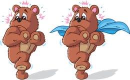 Orso di Scaredy, parte di una serie. Fotografie Stock