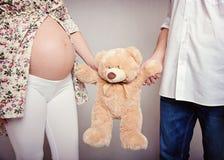 Orso e genitori Fotografie Stock
