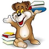 Orso e libri dolci illustrazione di stock