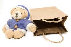 Orso e sacchetto Immagine Stock