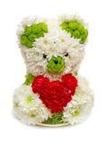 Orso fatto dai fiori Fotografia Stock Libera da Diritti