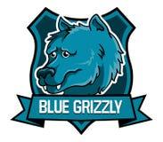 Orso grigio blu illustrazione di stock