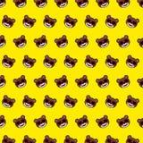Orso - modello 12 di emoji illustrazione vettoriale