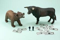 Orso o bull market Immagini Stock