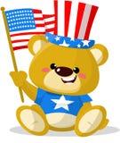 Orso patriottico sveglio Immagini Stock Libere da Diritti