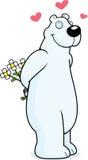 Orso polare nell'amore Immagine Stock