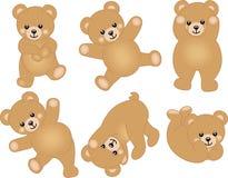 Orso sveglio dell'orsacchiotto del bambino illustrazione vettoriale