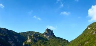 Orsomarso, het Nationale Park van Pollino, Calabrië, Italië Royalty-vrije Stock Foto