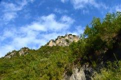 Orsomarso, het Nationale Park van Pollino, Calabrië, Italië Royalty-vrije Stock Foto's