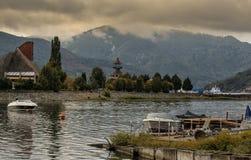 Orsova,多瑙河口岸镇 库存照片