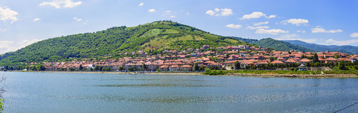 Orsova port city panorama Royalty Free Stock Photos
