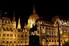 Országház at night stock photography