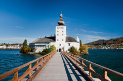 Ort castle bridge, Austria Royalty Free Stock Image