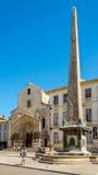 Am Ort der Republik im Arles stockbilder