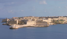 Ort Ricasoli и грандиозная гавань Мальта от Валлетты Стоковые Фотографии RF