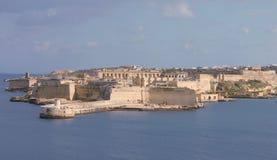 Ort Ricasoli Malta od Valletta i Uroczysty schronienie Zdjęcia Royalty Free