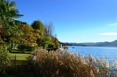 Orta和它的自然湖  库存图片