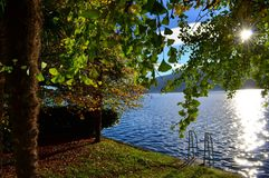 Orta和自然湖  免版税库存图片