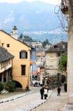 Orta Сан Giulio и озеро Orta, Италия стоковые изображения rf