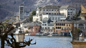 Orta Сан Giulio, озеро Orta, Италия видеоматериал