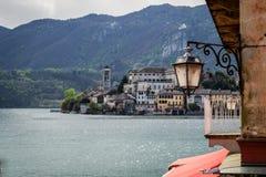 Orta i San Giulio wyspa zdjęcia royalty free