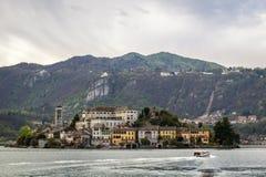 Orta i San Giulio wyspa Zdjęcie Royalty Free