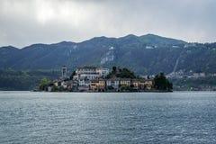Orta i San Giulio wyspa Fotografia Stock