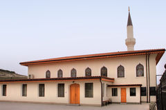 Orta Juma Jami Mosque in Bakhchisaray town (Crimea). Orta Juma Jami Mosque is one of the oldest mosques in Crimea. It used to be the main Friday prayer mosque in royalty free stock images
