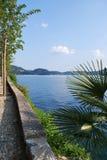 Orta lake, Italy. Romantic promenade by Orta lake, Italy Royalty Free Stock Photo