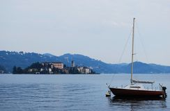 Orta lake, Italy Royalty Free Stock Images