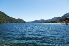 Orta lake, landscape from Omegna Stock Image