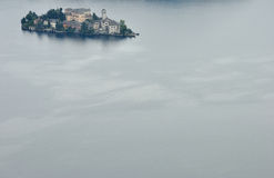 Orta Lake, San Giulio island Stock Photo