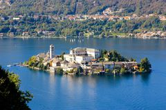 Orta San Giulio island Royalty Free Stock Photos