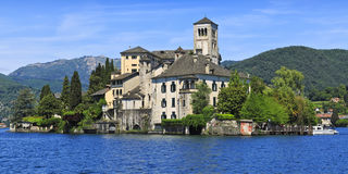 Orta San Giulio island, Piedmont, Italy. Royalty Free Stock Photo