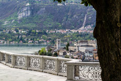 Orta and San Giulio isle Stock Image
