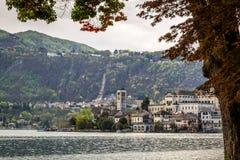 Orta and San Giulio isle Royalty Free Stock Photos