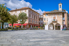 Orta San Giulio, Jeziorny Orta, Włochy Fotografia Royalty Free