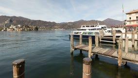 Orta San Giulio, lago Orta, Itália vídeos de arquivo